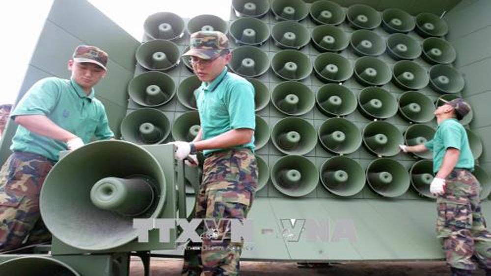 Triều Tiên và Hàn Quốc bắt đầu dỡ bỏ loa phóng thanh tại biên giới
